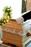 Wooden coffin Stock Photography