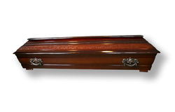 Wooden coffin Stock Images