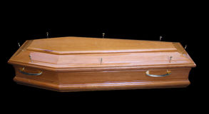 Wooden coffins Stock Images