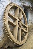 Wooden Cogwheel Stock Image