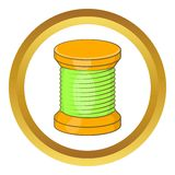 Wooden coil vector icon Stock Image