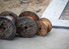 Wooden coils Royalty Free Stock Image