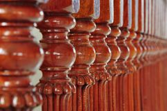Wooden colonnade Royalty Free Stock Images
