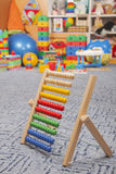 Wooden color abacus Stock Photo