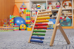 Wooden color abacus Royalty Free Stock Photos