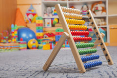 Wooden color abacus Stock Photos