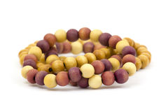 Wooden color beads Royalty Free Stock Photo