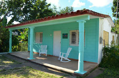 Wooden Color house – typical for Caribbean Islands - Cuba Royalty Free Stock Photography