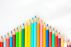Wooden Color Pencil Arrow Stock Photography
