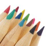 Wooden color pencils Stock Photos