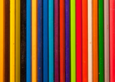 Wooden color pencils pattern Stock Photos
