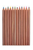 Wooden color pencils Royalty Free Stock Photo