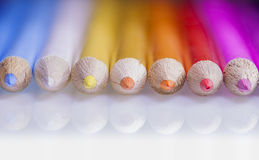 Wooden Color pencils Stock Image
