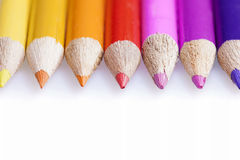 Wooden Color pencils Stock Photography