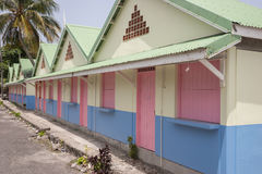 Wooden colored house Stock Images