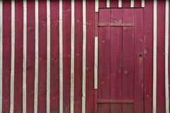 Colorful shed in wood, France Royalty Free Stock Image