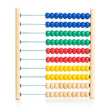 Wooden colorful abacus kids toy isolated Royalty Free Stock Photography