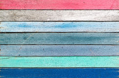 Wooden colorful beautiful for background. Stock Image
