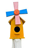 Wooden colorful bird house Royalty Free Stock Image