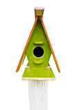 Wooden colorful bird house Royalty Free Stock Photography