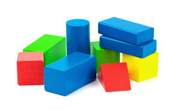 Wooden colorful bricks Royalty Free Stock Photo