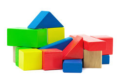 Wooden colorful bricks Stock Images