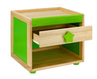 Wooden colorful chair box with drawer isolated royalty free stock images