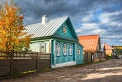 Houses on the street Nikolskaya Stock Images