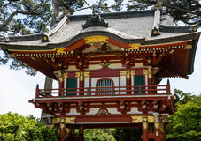 Wooden colorful pagoda Royalty Free Stock Photography