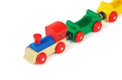 Wooden colorful toy train Stock Image