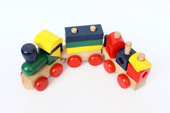 Wooden Colorful Train Royalty Free Stock Photos
