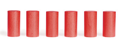 Wooden colour cylinders Royalty Free Stock Photos