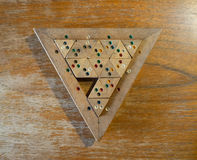 Wooden Colour Match Triangle puzzle Stock Image