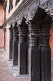Wooden Column at Durbar Square Royalty Free Stock Images