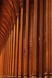 Wooden columns in church Royalty Free Stock Image