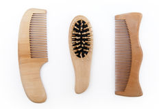 Wooden comb Stock Photos