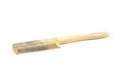 Wooden comb. Comb made out of herbal plant Stock Photos