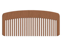 Wooden comb Royalty Free Stock Images
