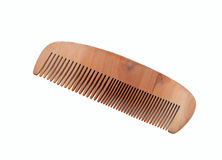 Wooden comb. Isolated on white background Stock Images