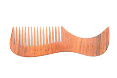 Wooden comb isolated Royalty Free Stock Photos