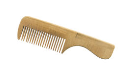 Wooden comb isolated. This has clipping path. Royalty Free Stock Photos