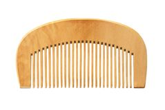 Wooden comb isolated stock image