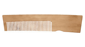 Wooden comb isolated Stock Images