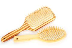 Wooden combs Stock Photo