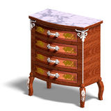 Wooden commode with drawers of Louis XV. Royalty Free Stock Photography