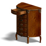 Wooden commode with drawers of Louis XV. Stock Photography