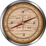 Wooden compass Royalty Free Stock Photography