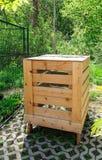 Wooden Compost Bin Stock Photo