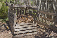 Wooden Compost Bin Stock Photography