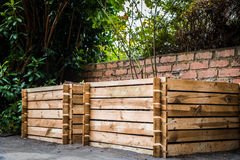 Wooden Compost Bin royalty free stock photos